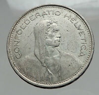 1967 Switzerland Founding HERO WILLIAM TELL 5 Francs Silver Swiss Coin i62896