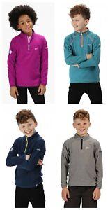 ex Regatta Loco Kids Boys Girls Half Zip Sweatshirt Fleece Jacket Top