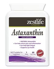Zestlife Astaxanthin 4mg Natural 60 Soft Gels for healthy heart & immune system