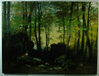 """B-E. Bertrand """"Mädchen mit Schafen in einer Lichtung"""" Öl, signiert, datiert 1872"""