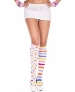 Clown Acrylic Knee High Socks - Music Legs 5700