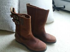 Sorel 'Major' suede leather mid-calf pull on boots, brown. EUC. Women's size 6.5