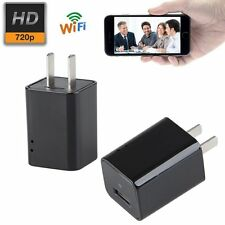 WIFI HD Spy Hidden IP Camera Wireless USB Phone Charger Home Surveillance Cam