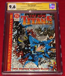 CGC SS 9.6 Marv Wolfman Tom Grummett & Bob McLeod New Teen Titans 61 w/ Batman