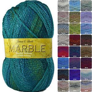 James C Brett Marble DK Knitting Yarn - Complete Range