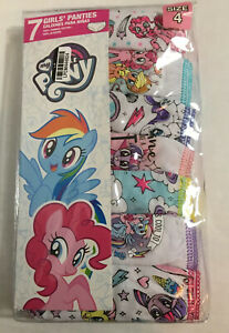 Girls' My Little Pony 7pk Assorted Underwear - Size 4