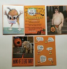 NEW HALLOWEEN LOT OF 5 RECYCLED PAPER GREETINGS CARDS BY PAPYRUS $20.75 VALUE