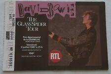 ticket billet used place concert DAVID BOWIE 1987 PARIS