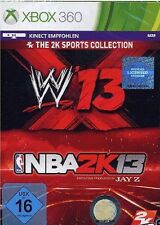 The 2K Sports Collection: WWE 13 + NBA 2K13 Microsoft Xbox 360 PAL Brand New