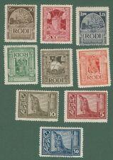 EGEO. Ano 1929. Serie Pittorica (Sassone s. 2, numeri 3 - 11). 9 valori nuovi