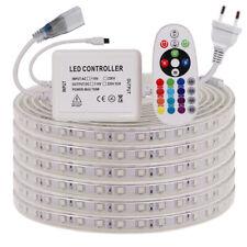 5050 LED RGB Streifen Stripe 230V 220V Wasserdicht Band Leiste Lichtband 1M-100M
