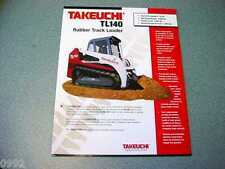 Takeuchi TL140 Rubber Track Loader Brochure