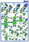 3D A4 Paper Tole Christmas Costumes from Marianne 3 Pictures NEW