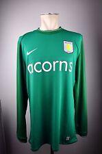 2009-10 Aston Villa FC Trikot Goalkeeper Jersey Gr. XL Home Acons Torwart grün