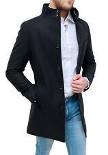 Cappotto soprabito uomo Diamond invernale nero slim fit casual elegante coreana