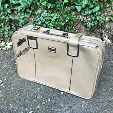 Charming Old Vintage Retro CARLTON Leather Suitcase Zip + Strap (one missing)