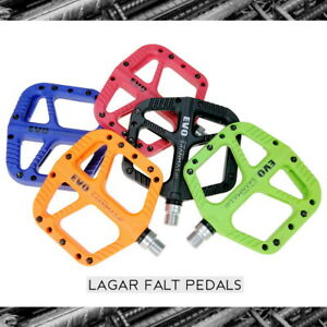 Road MTB Bike XC AM Bicycle Pedal DU + Bearing Nylon fiber Flat Platform Pedals
