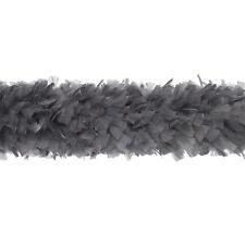 "TURKEY BOA - DARK GREY 2 Yards 6-8"" Feathers 150 Grams; Halloween/Costume/Bridal"