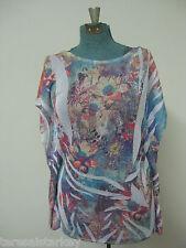 Womens shirt blouse tunic Sheer Large Extra Large 16 18 20 Sublimation NEW