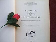 BAYLE ( FRANCOIS Dr) PSYCHOLOGIE ET ETHIQUE DU NATIONAL SOCIALISME 1953