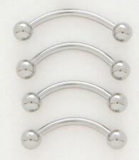 "5 Steel 16g 3/8"" Eyebrow Rings 3MM Ball Wholesale Lot"
