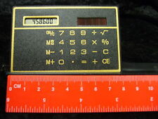 Slim Pocket Calculator Solar Power 85 x 54 x 3 mm Credit Card size Black Boxed