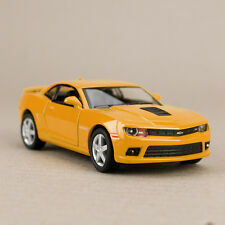2014 Chevrolet Camaro Yellow 1:38 Scale Die-Cast Model Car Pull-Back Detailed
