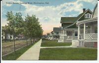 Harrington Kent County Delaware Center Street Scene View 1915 Postcard