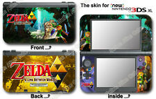 Legend of Zelda A Link Between Worlds Skin Sticker Cover for NEW Nintendo 3DS XL