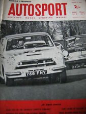 AUTOSPORT 13th MARZO 1964 * Corvette Sting Ray & Longford Tasman & BRABHAM BT 8 *