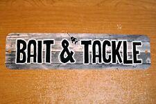 Metal Sign BAIT & TACKLE shop fishing fisherman fish sport gear hooks lines