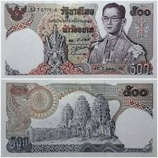Paper Money World  Asia Thai 500 baht 1975 banknote Unc King Rama 9 Old temple