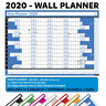 2020 Wall Planner Laminated Wipe On Off Calendar For Holidays Home Office Staff