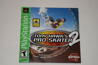 Tony Hawk 2 Greatest Hits Playstation PS1 Video Game Manual Only