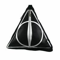 Harry Potter Deathly Hallows Triangle Shaped Backpack Handbag - School Bag Black