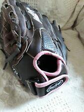 """Rawlings Pink Womens Baseball Glove WFP120 Leather 12"""" LEFT Hand Throw LHT"""