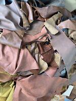 3  Kg Lederreste  Mittelalter Rustikal Vintage Brauntöne Gr. A4 Und Größer