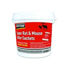 3 Pack Pest-Stop Super Mouse & Rat Killer Wholegrain Bait 6 X 25g Sachets Poison