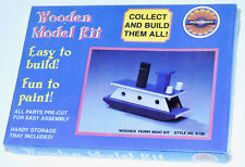 Sealed VTG Holiday Industries Small Wonders Wooden Model Kit Ferry Boat Toy RARE