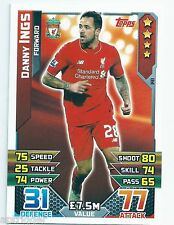 2015 / 2016 EPL Match Attax Base Card (141) Danny INGS Liverpool