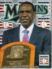 ANDRE DAWSON HOF MIAMI MARLINS 2010 OFFICIAL MAGAZINE GIANCARLO STANTON ROOKIE