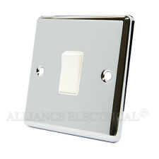Polished Mirror Chrome Classical 1 Gang Switch -10 Amp CPC1GSWIWH