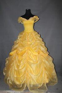 Custom Made Beauty Princess Belle Cosplay Costume High Quality  Halloween Dress