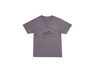 Genuine Indian Motorcycle Grey T-Shirt - Mens Original Bike Tee  - New With Tags