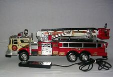 Vintage 1988 Remote Control Toy Fire Truck New Bright Industrial Co. No. 55
