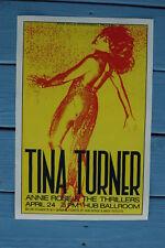 Tina Turner Concert Tour Poster 1983 Hub Ballroom