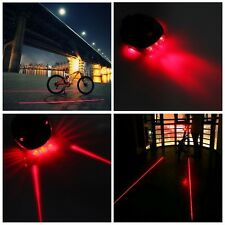 New 2 Laser Beam 5 LED Cycling/Bicycle Rear Tail Safety Warning Flashing Light