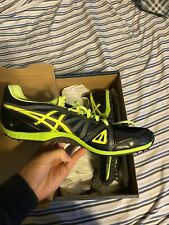 Asics Hyper XC Mens Cross Country Spike G509Y Size 10 1/2 Black/Flash Yellow