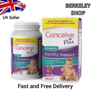 Conceive Plus WomenS Fertility Vitamins + Key Nutrients Healthy Cycles 60 Caps