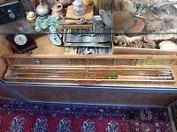 Canne à pêche à la mouche en bambou refendu 6 bous marque Viking